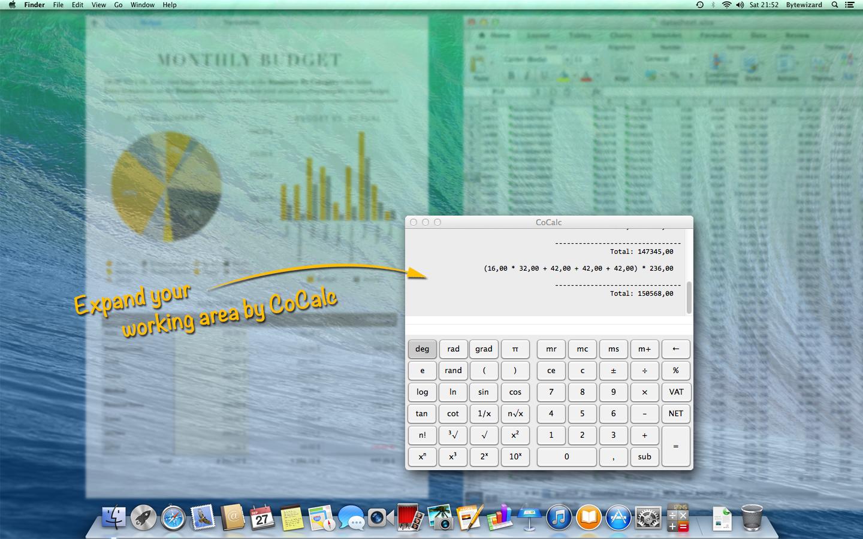CoCalc transparent calculator for mac