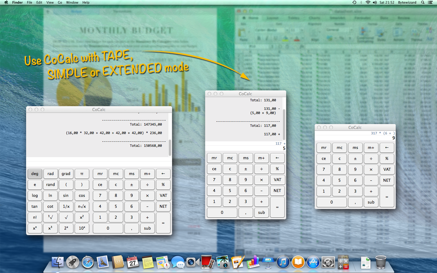 CoCalc transparent calculator for mac